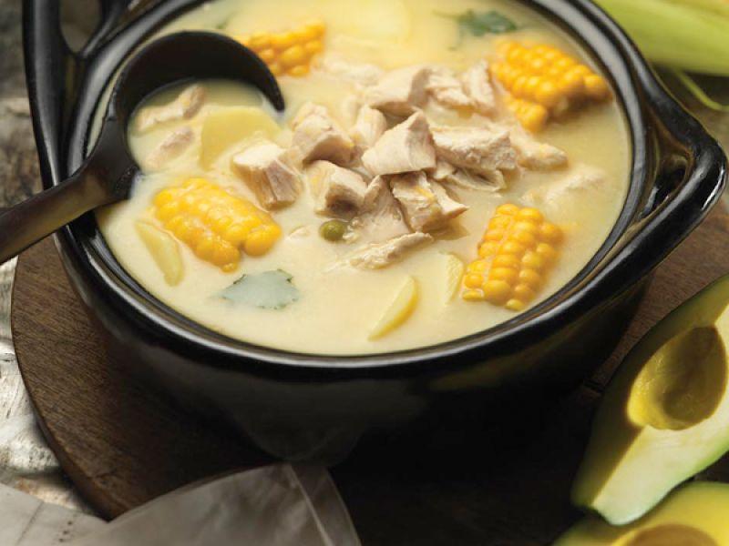 Recipe Ajiaco Santafereño - Chicken and Potato Soup